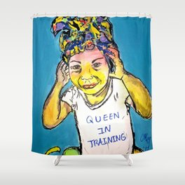 Black Queen in Training Shower Curtain