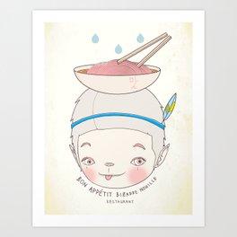 맛! Bon appetit bizarre nouille restaurant ! Art Print