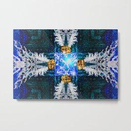 Embrace Cobalt Metal Print