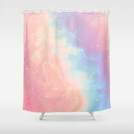 Cotton Candy Galaxy Shower Curtain