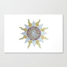 Mosaic Sun Canvas Print