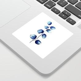 Dark blue eucalyptus Sticker