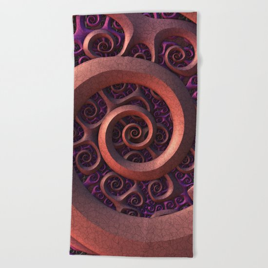 Spiral Mania Beach Towel