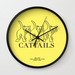 Howlin' Mad Murdock's 'Cat Tails' shirt Wall Clock