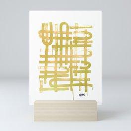 U Turn Chartreuse Mini Art Print