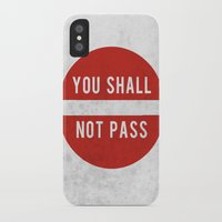 lotr iPhone & iPod Cases featuring you shall not pass by jerbing