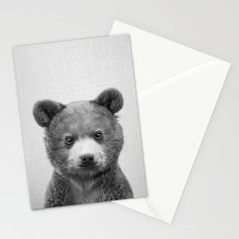 Baby Bear - Black & White Stationery Cards