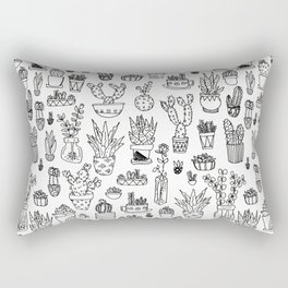 Cute Succulents Pattern Rectangular Pillow