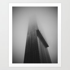 Beetham Tower in the mist Art Print