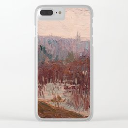 Tom Thomson - Cat-Tails, Canoe Lake - Canada, Canadian Oil Painting - Group of Seven Clear iPhone Case