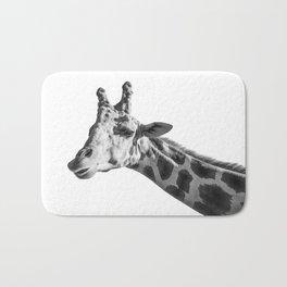 Giraffe Animal Photography Minimalism | Black and White Art Bath Mat