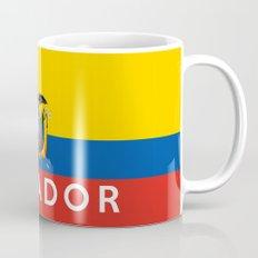 Ecuador country flag name text Mug