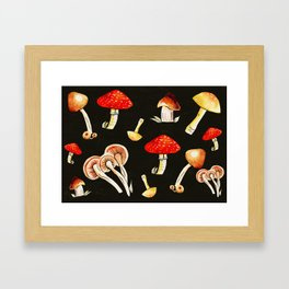 Brigt Mushrooms Framed Art Print