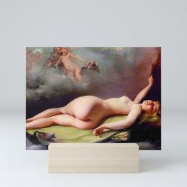 "Luis Ricardo Falero ""Reclining nude"" also known as ""The Opium Smoker"" Mini Art Print"