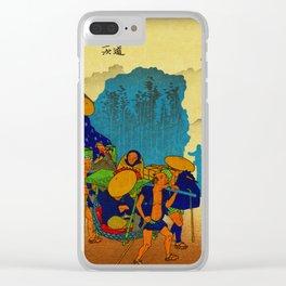 Travelers at Mishima Shrine Japan Clear iPhone Case