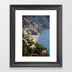 Positano Italy Harbor - Mediterranean Sea Framed Art Print