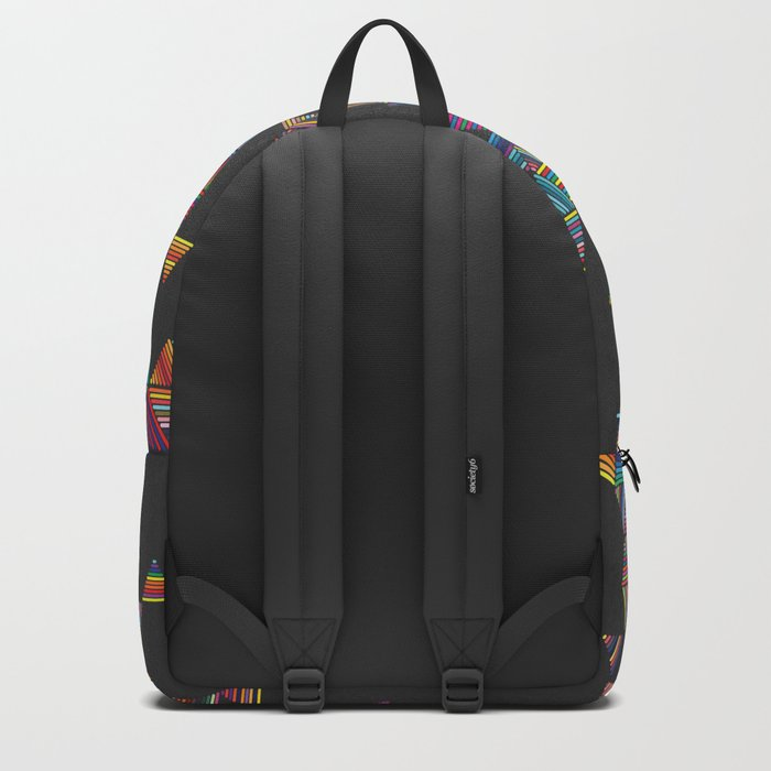 Rainbow Night Rain Backpack