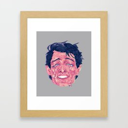 Attractive Crying Man Framed Art Print
