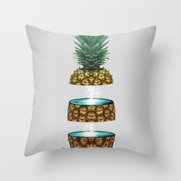 Pineapple Space Throw Pillow