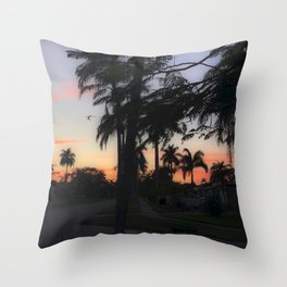Shadow Palms Throw Pillow