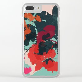 cherry blossom 5 Clear iPhone Case