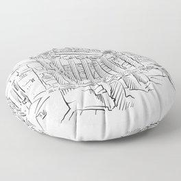 Ancient Rome roman forum Floor Pillow