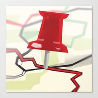 paper towns Canvas Prints featuring Paper Towns by Dreki