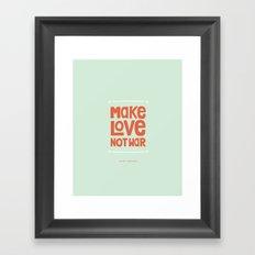 Make Love, Not War Framed Art Print