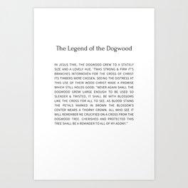 The Legend Of The Dogwood 8 Art Print