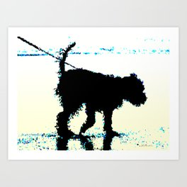 Blues Dog Art Print