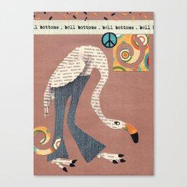Birds Wear Clothes - Bell Bottoms Canvas Print