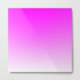 Pink Ombre flames Metal Print