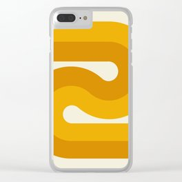 Retro Curves Clear iPhone Case