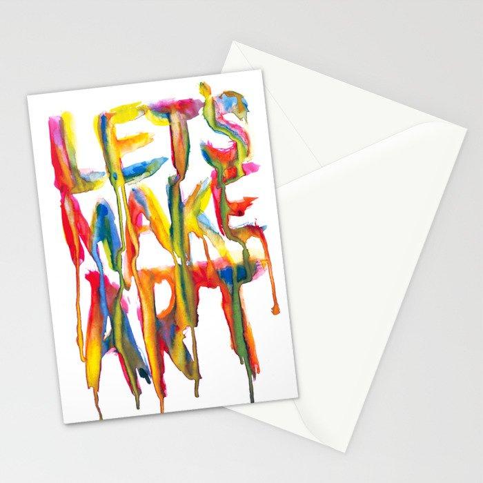 LET'S MAKE ART Stationery Cards