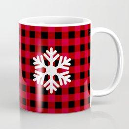 Red Buffalo Check - snowflake - more colors Coffee Mug