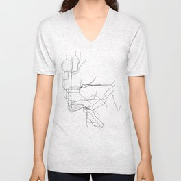 New York Subway Unisex V-Neck