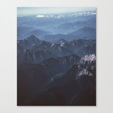in the peaks Canvas Print