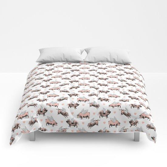Flying Pigs Comforters