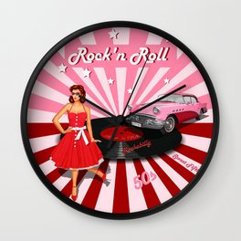 Rock'n Roll the sweet Fifties Wall Clock