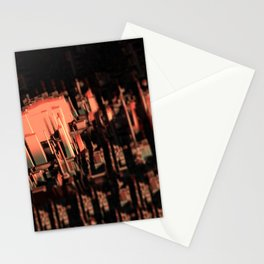 Cityscape technology microchip urban intricate pattern texture geometric background Stationery Cards
