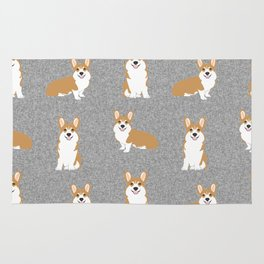 Corgis - Cute corgi, dog pet, corgi decor, corgi pillow, corgi bedding, corgi pattern, cute corgi Rug