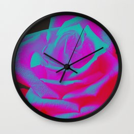Neon Rose - Singlet - Mink Wall Clock