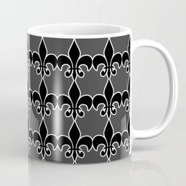 Black Fleurde lis Coffee Mug
