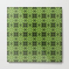 Greenery Floral Geometric Metal Print