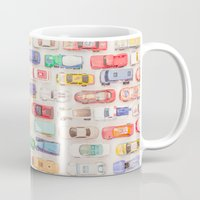 new jersey Mugs featuring New Jersey Traffic Jam by Edward M. Fielding