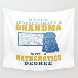 Mathematics Grandma Wall Tapestry