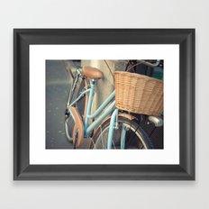 Watercolor Bike Framed Art Print