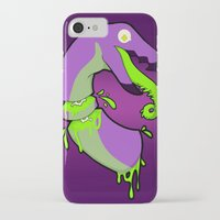 gore iPhone & iPod Cases featuring Techno bird gore by bladedcrow