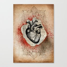 Corazón Sangriento Canvas Print