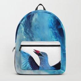 Blue bird in flight Backpack